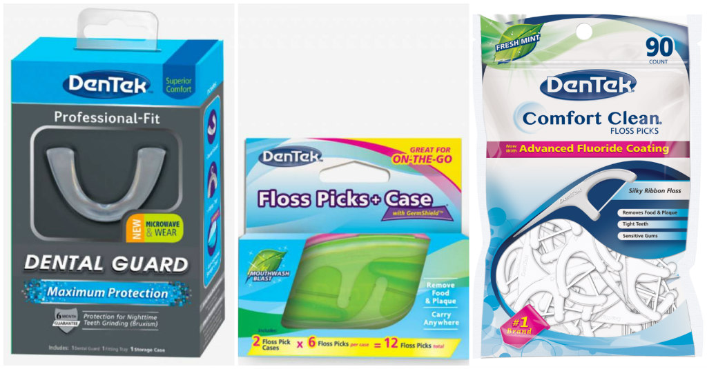dentek floss and dental guard - LATF USA Living Essentials Column