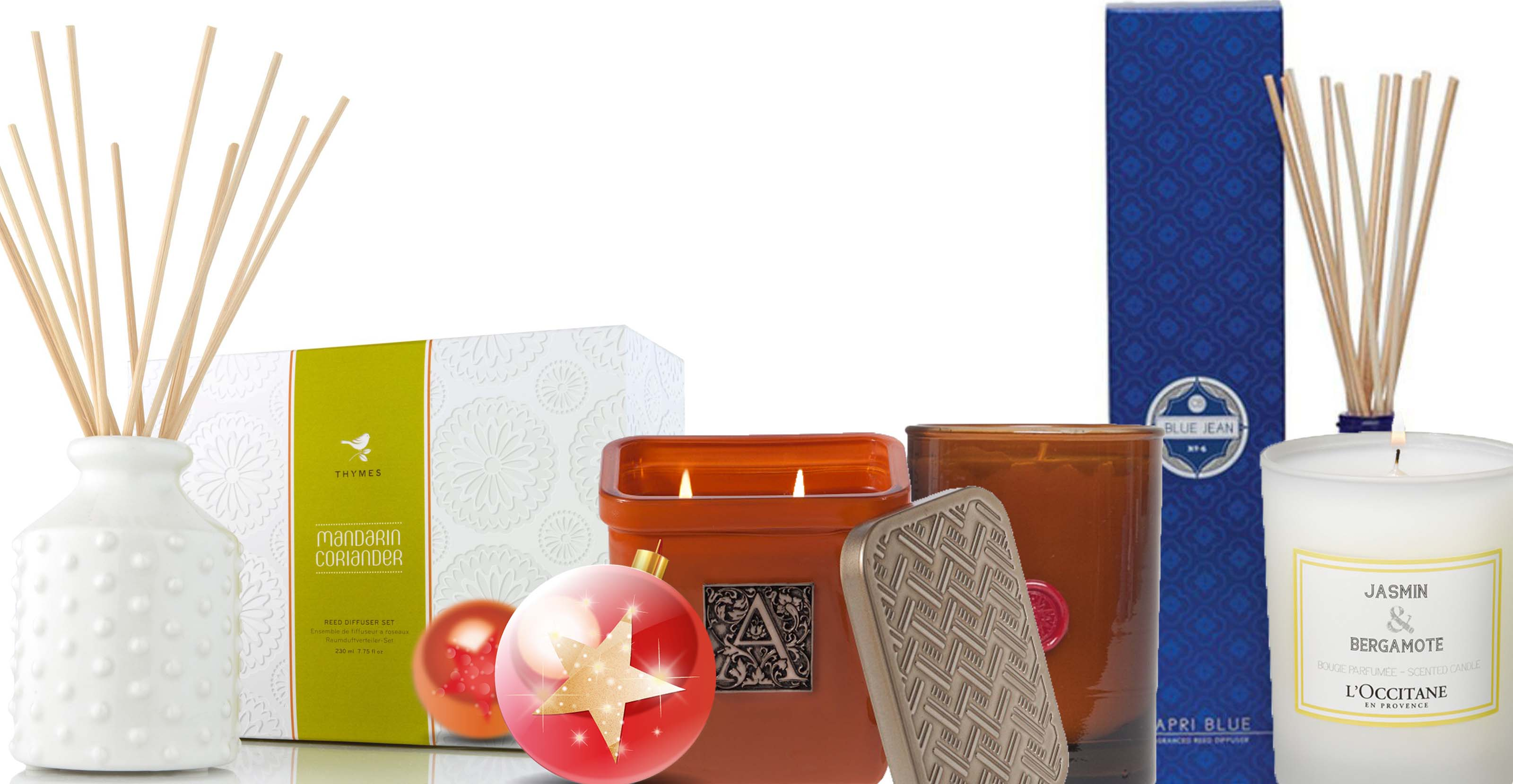 Holiday Gift ideas: thyme, illume, l'occitane