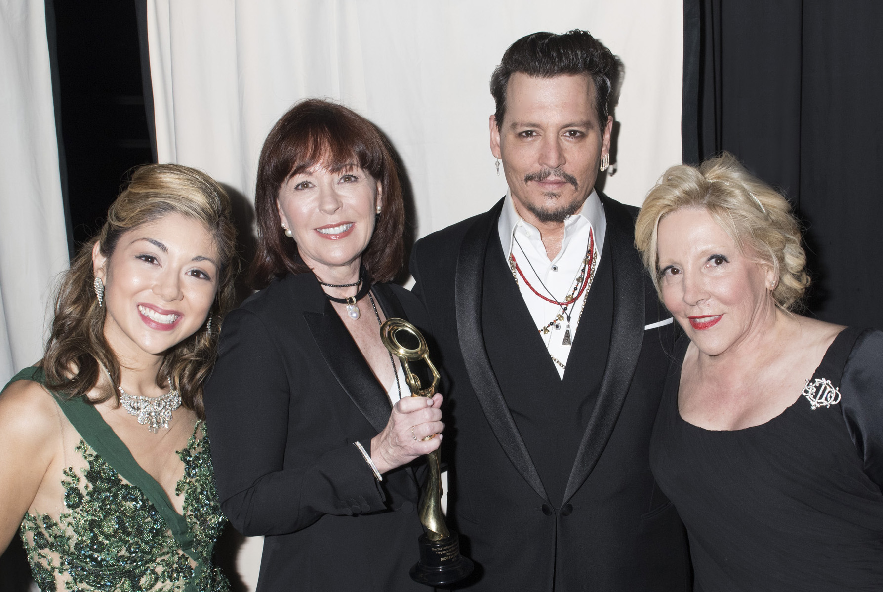Pamela Price, Pamela Baxter, Johnny Depp, Michele Elyzabeth - Hollywood Beauty Awards - LATF