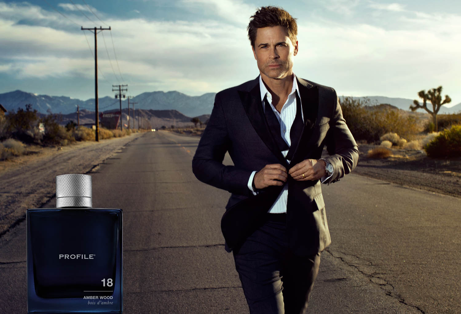Rob Lowe, Profile For Men, 18 Amber Wood fragrance
