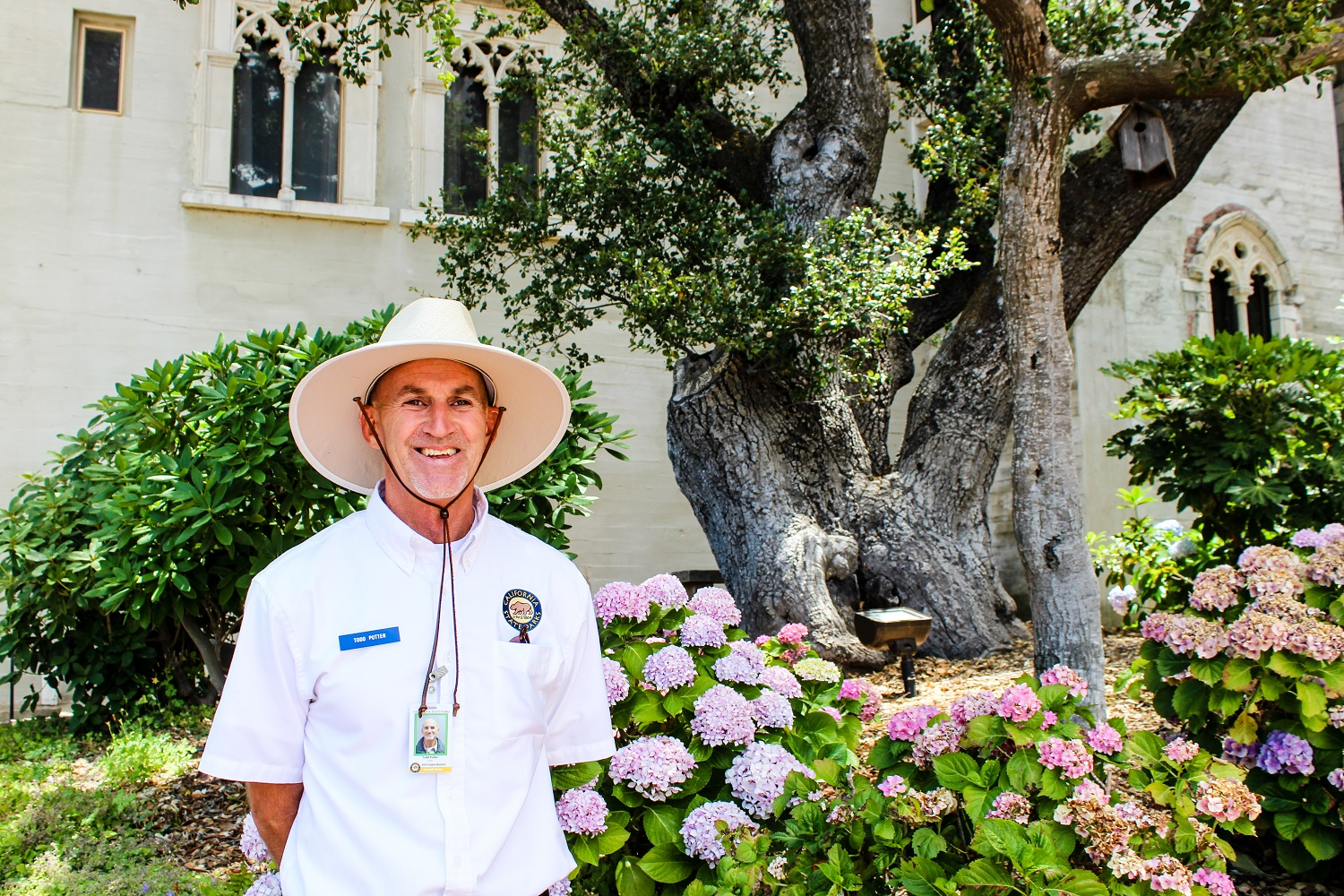 Todd Potter, Hearst Castle, tour guide