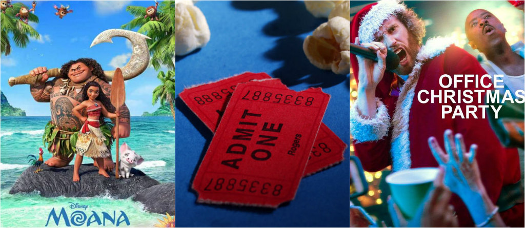 box office, moana, office christmas party