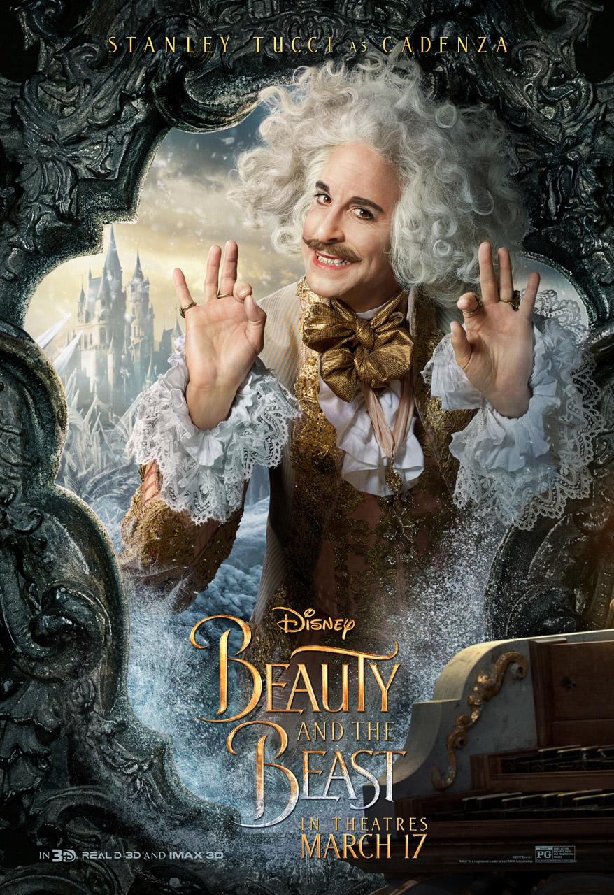 stanley tucci beauty and the beast