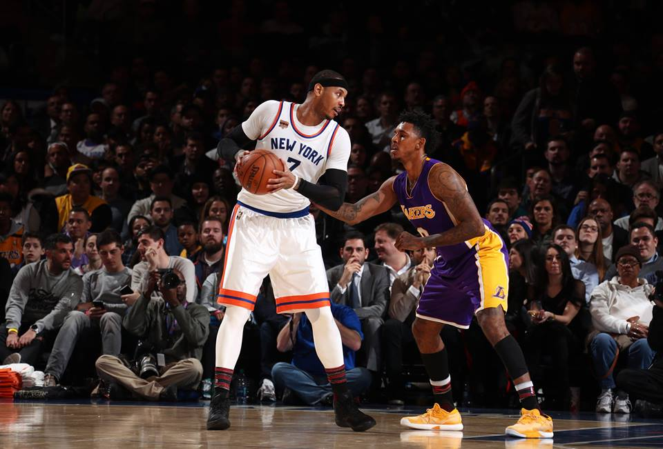 knicks v lakers
