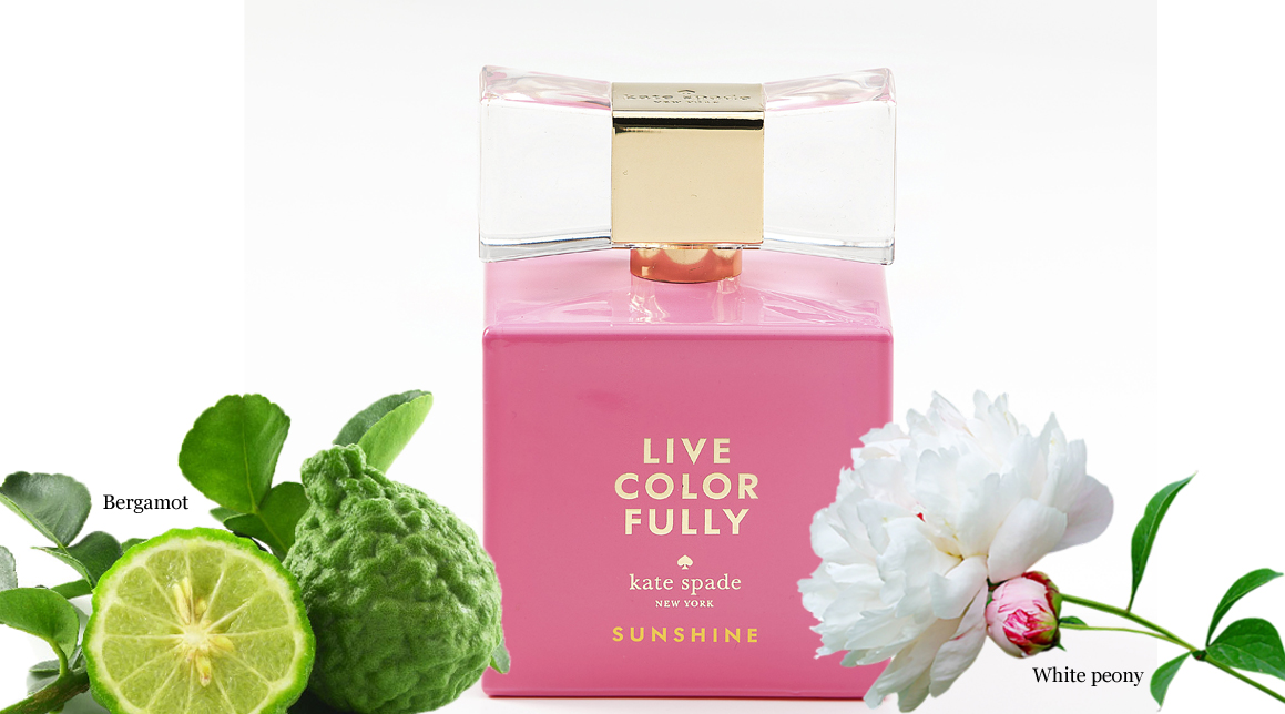 kate spade, live colorfully sunshine