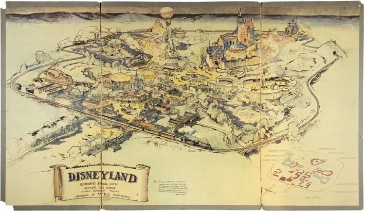 Disneyland Usa Map.Walt Disney S Disneyland Map Sold For 708 000 At Auction Latf Usa
