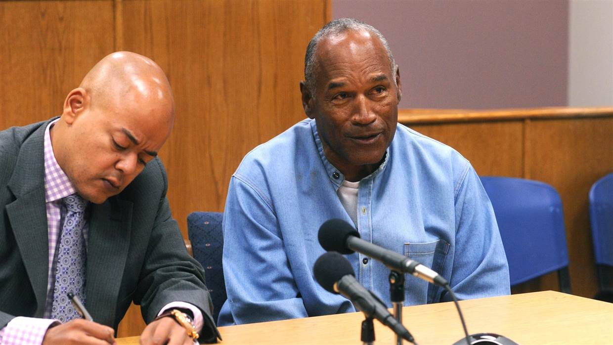 O.J. Simpson and Attorney at parole hearing July 20, 2017