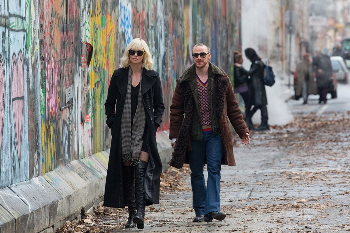 Charlize and Eddie Marsan in Atomic Blonde