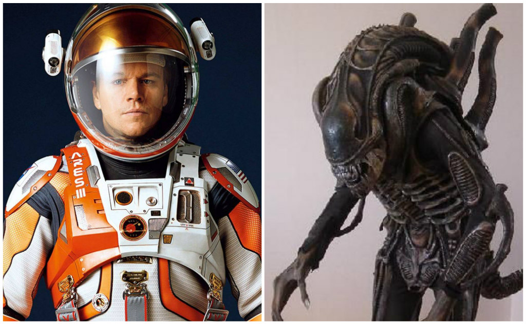 auction, the martian, matt damon, alien