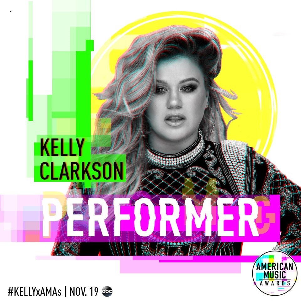 Kelly Clarkson american music awards