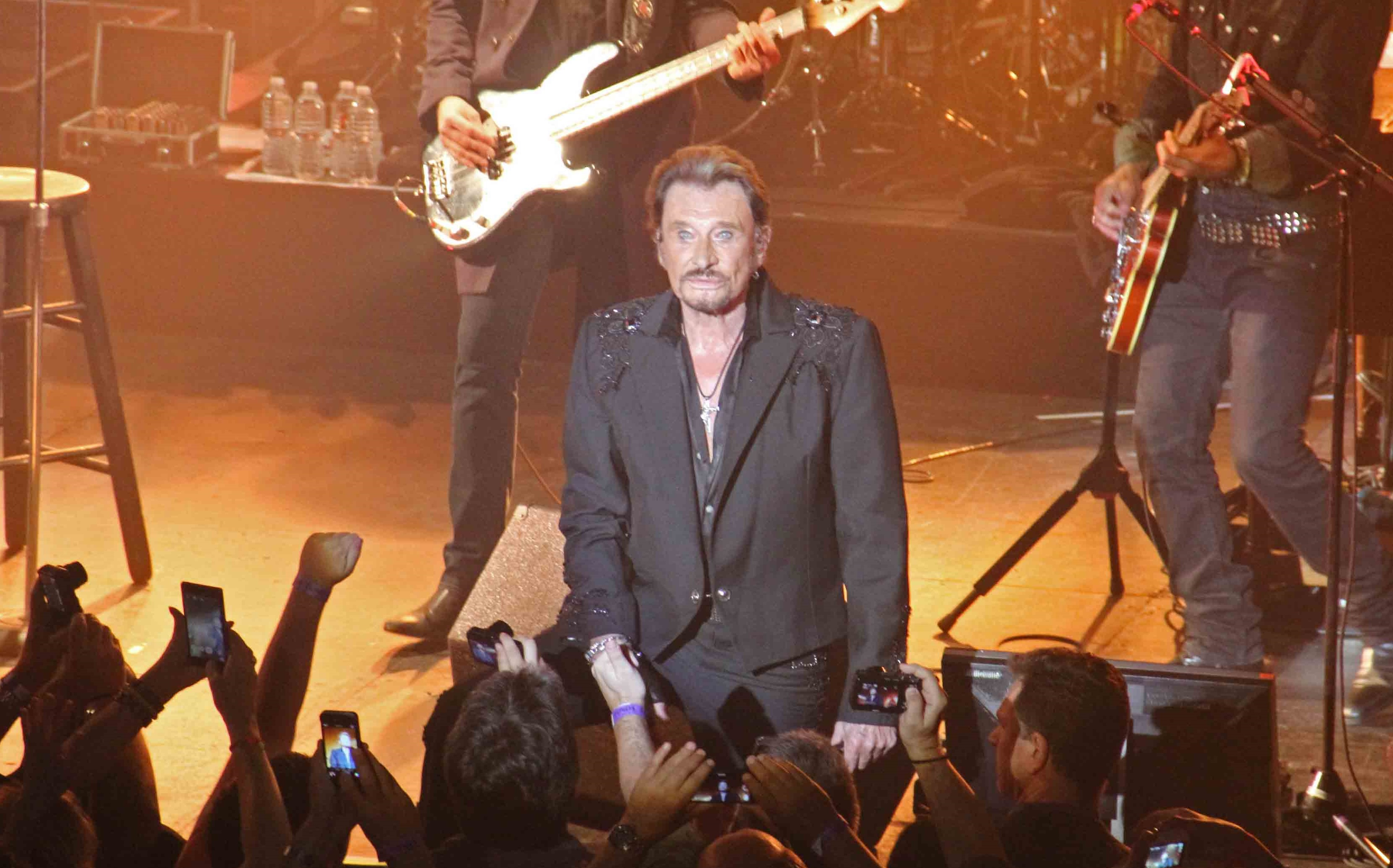 Johnny Hallyday, concert, photo by Pamela Price