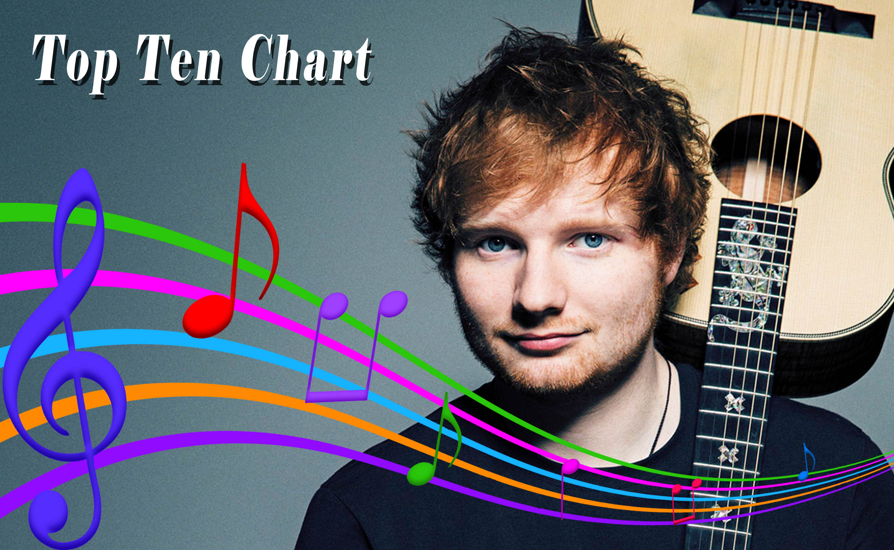 ed sheeran, top ten chart