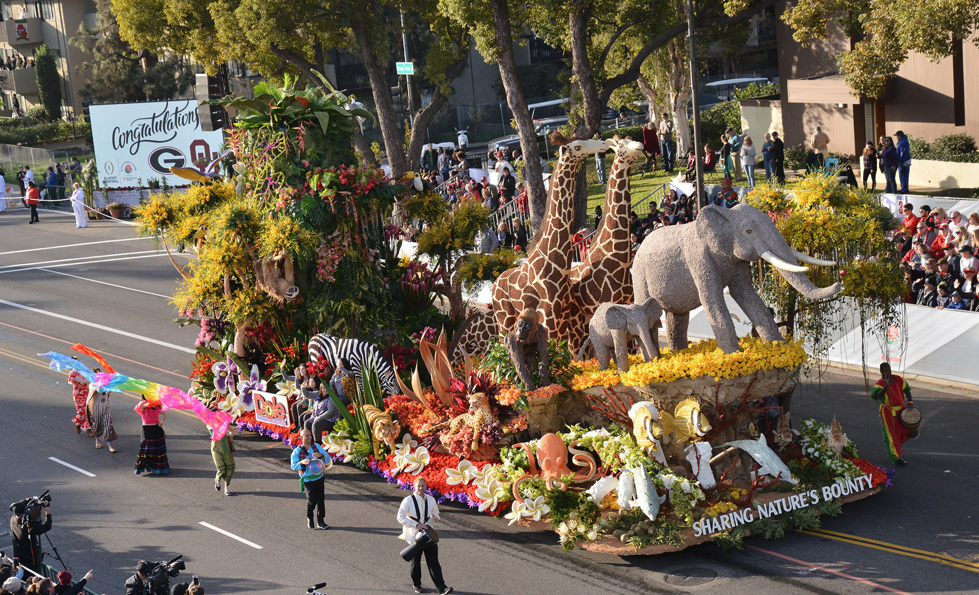 dole packaged foods float, tournament of the roses