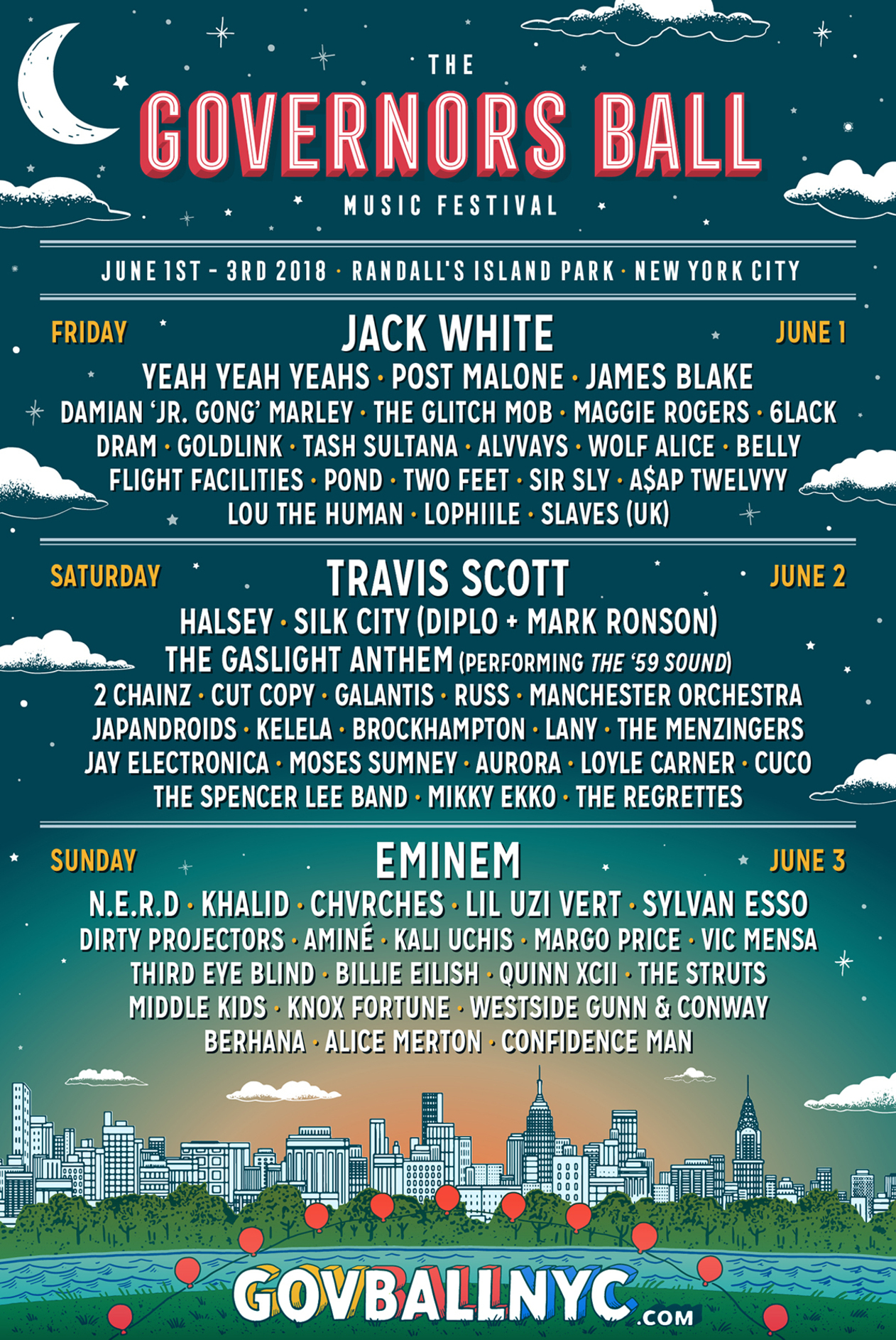 governors ball 2018 music festival tickets
