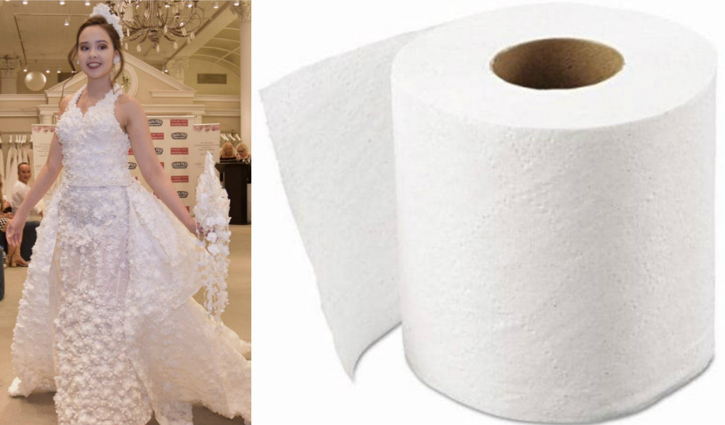 This Wedding Dress Is Made Out Of Toilet Paper Latf Usa