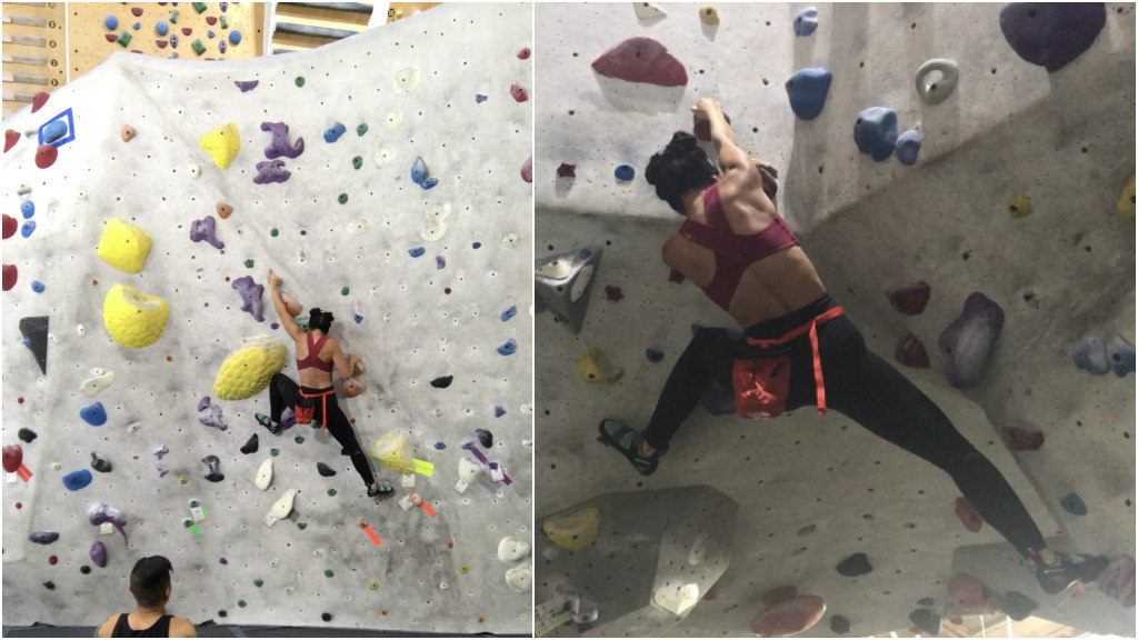 pamela price, stronghold climbing gym