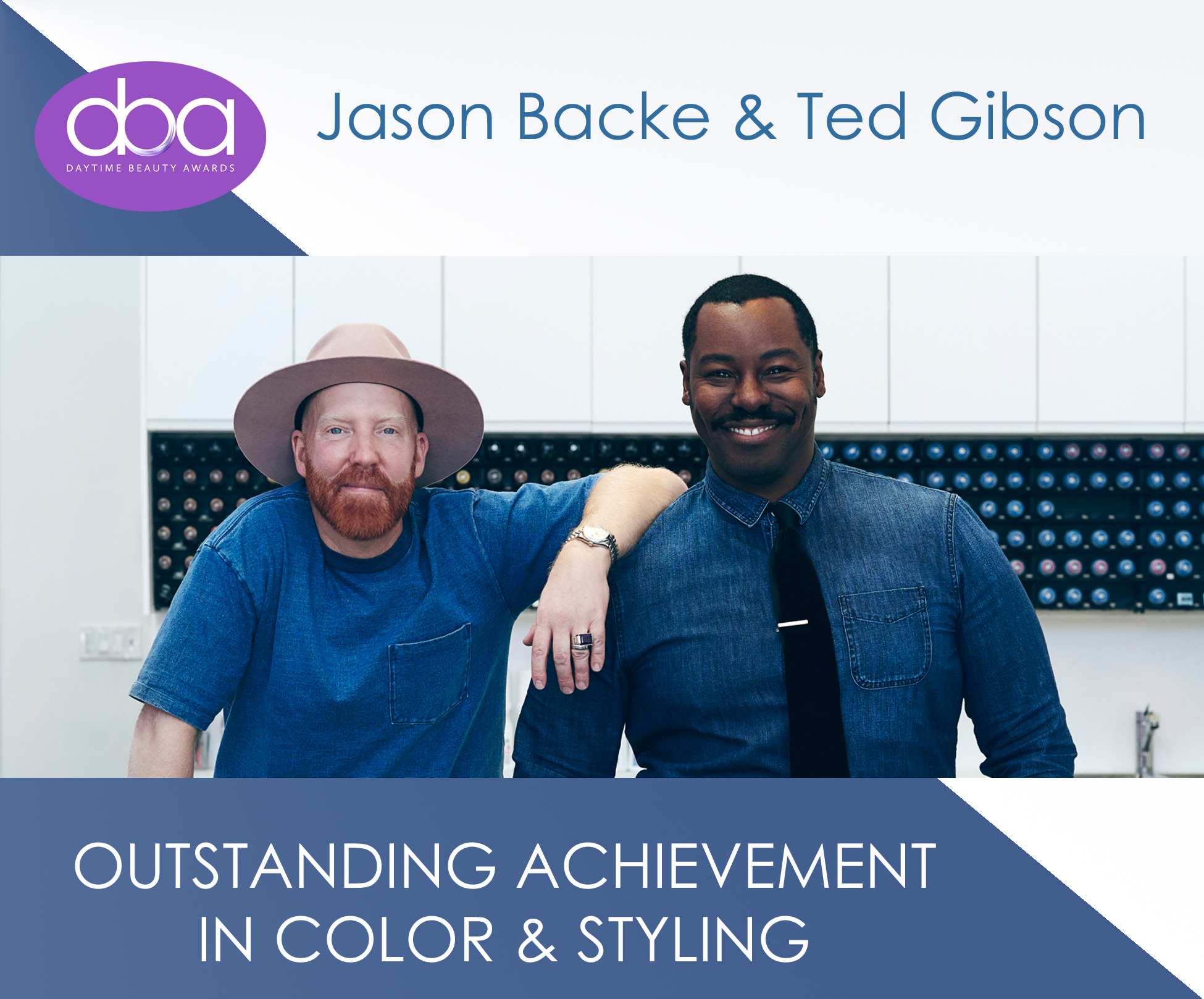 ted gibson, jason backe, starring, daytime beauty awards, color, styling