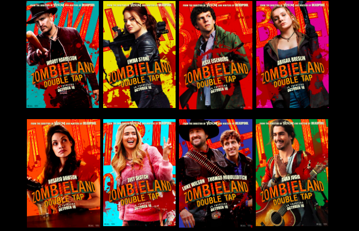 Zombieland Double Tap Character Posters Revealed Latf Usa