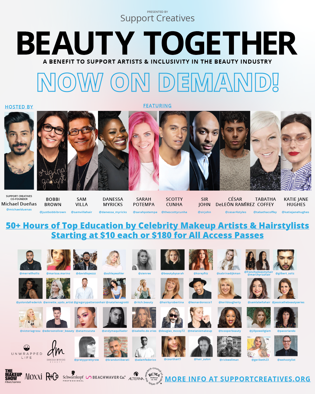 support creatives, beauty together, sarah potempa, cesar ramirez