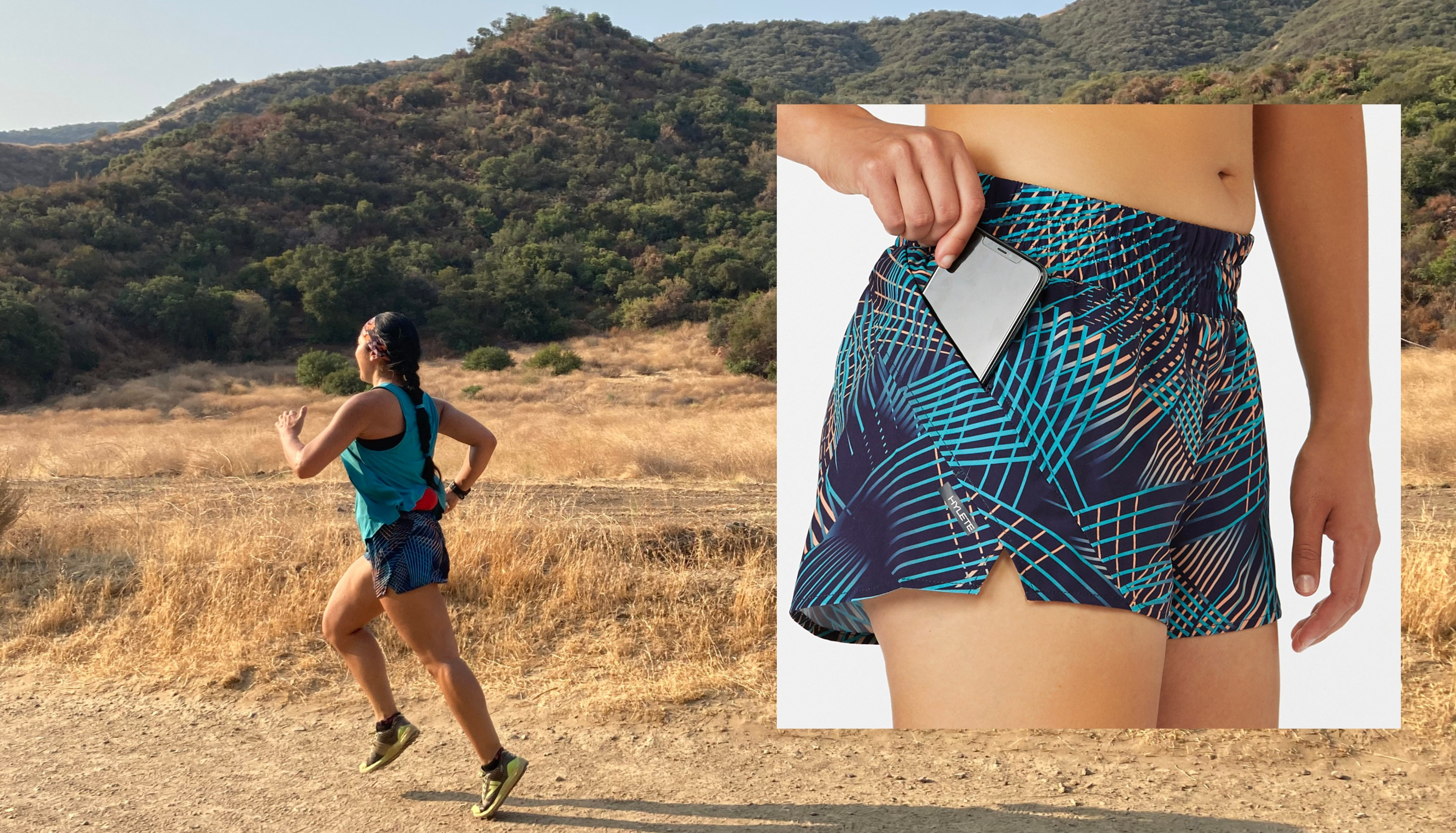 Hylete, running shorts, pamela price