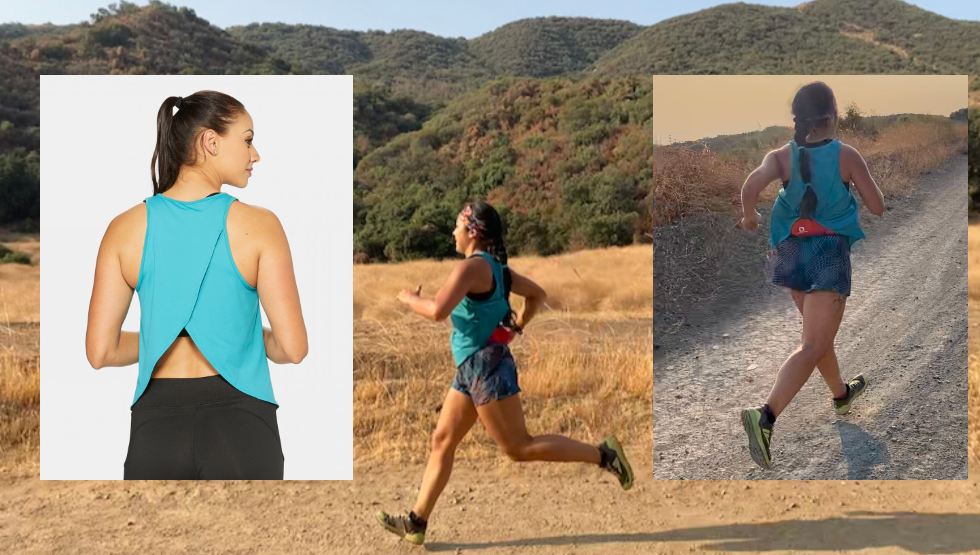 hylete, eclipse petal back tank, running apparel, pamela price
