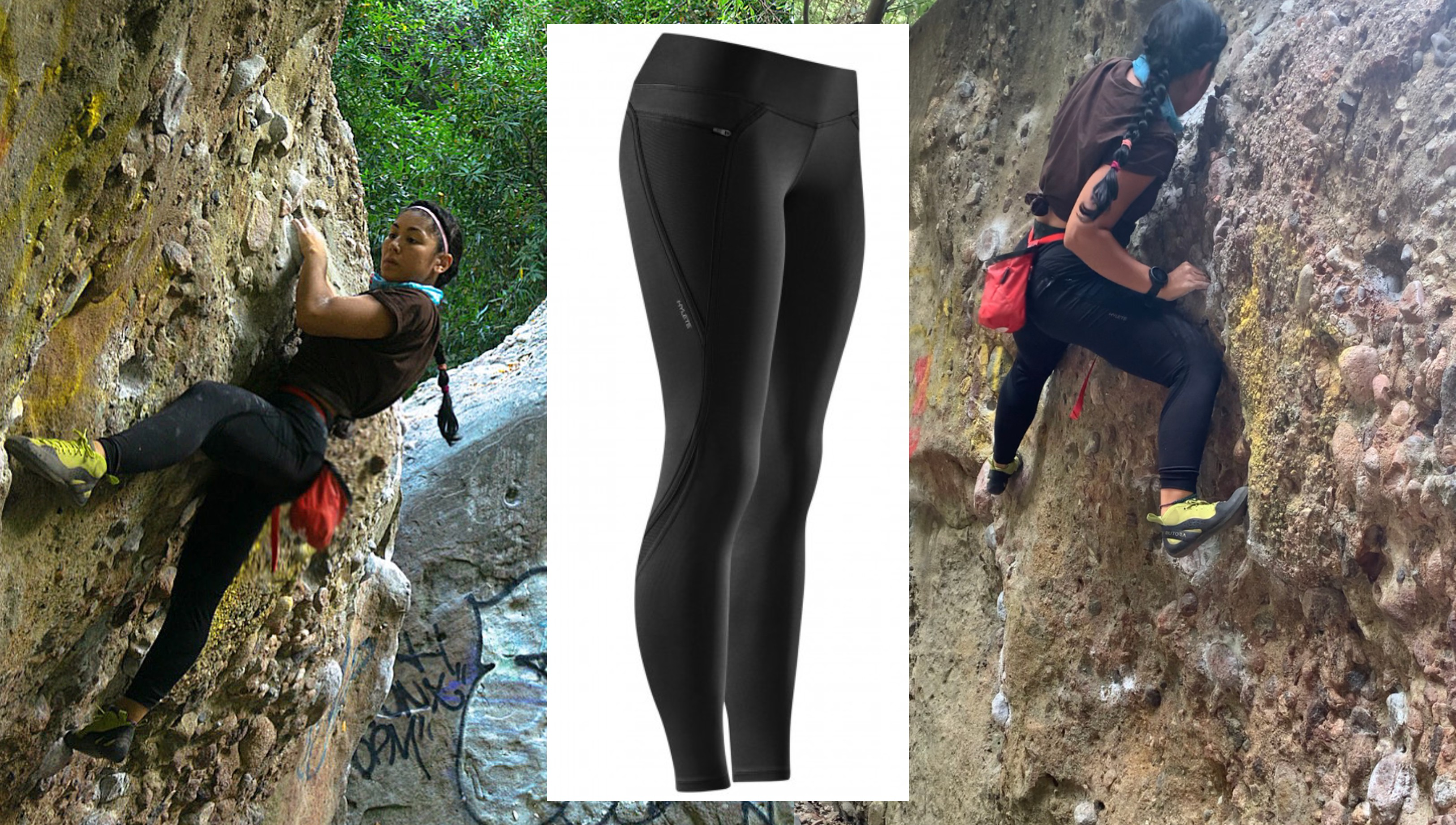 hylete, numbus tight pants, pamela price, bouldering, rock climbing, apparel