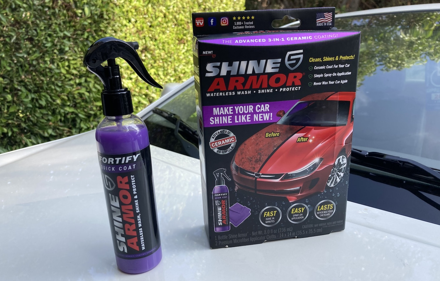 shine armor, cleaning product, car, bed bath and beyond