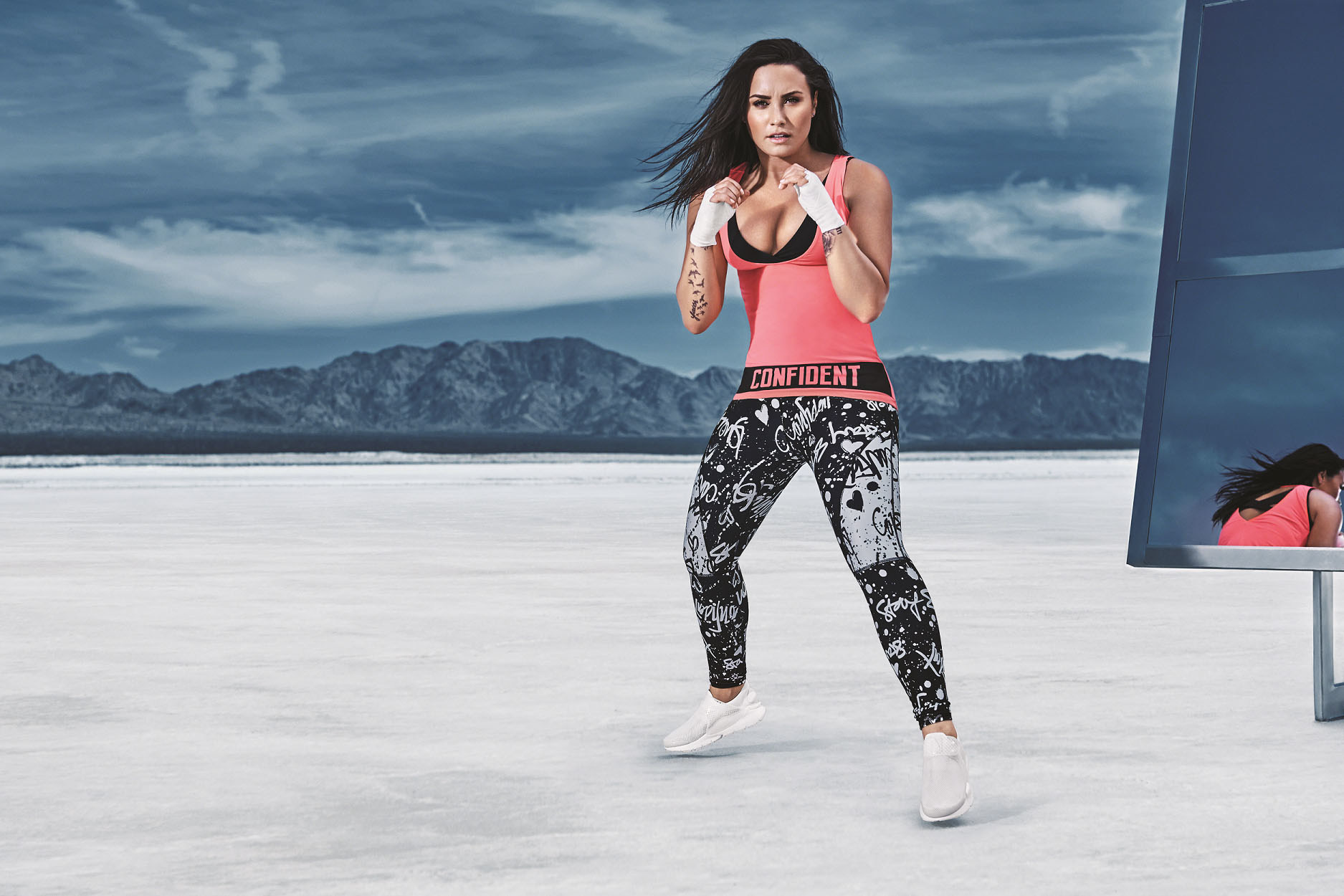 6b2a40f603 ... co-founded by Kate Hudson is making its first celebrity collaboration.  fabletics, demi lovato