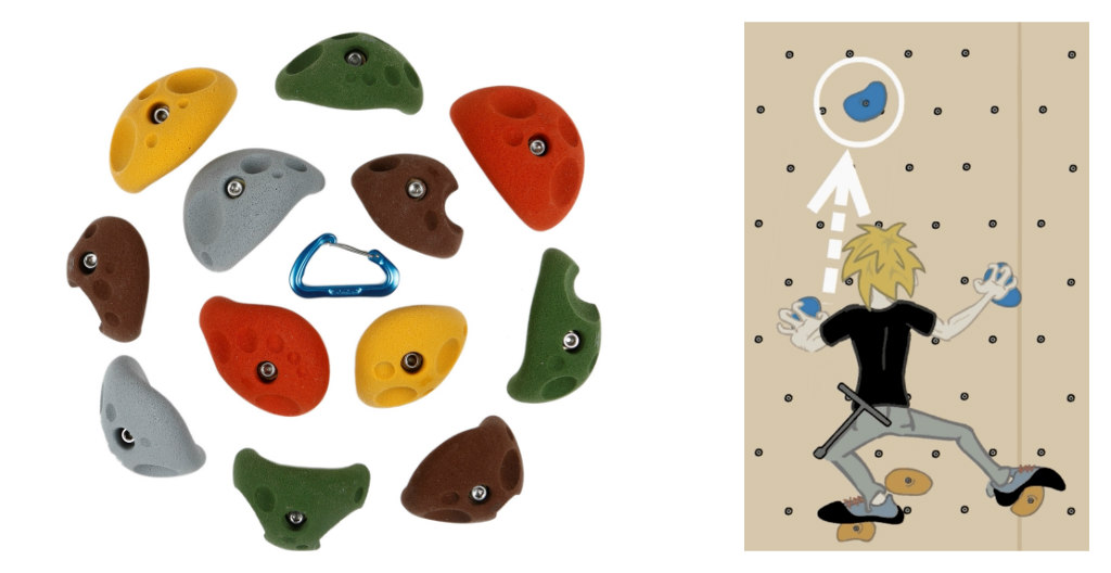 Atomik Climbing Holds, rock climb home wall, how to, pamela price