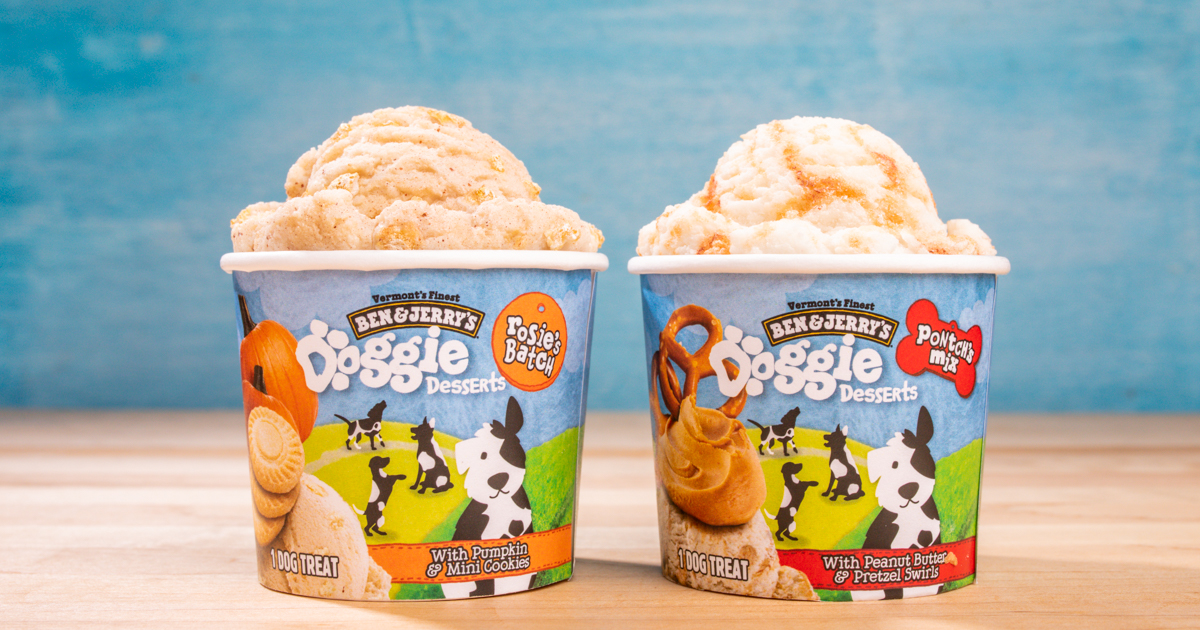 ben & jerry's, dogs, dog, ice cream for dogs